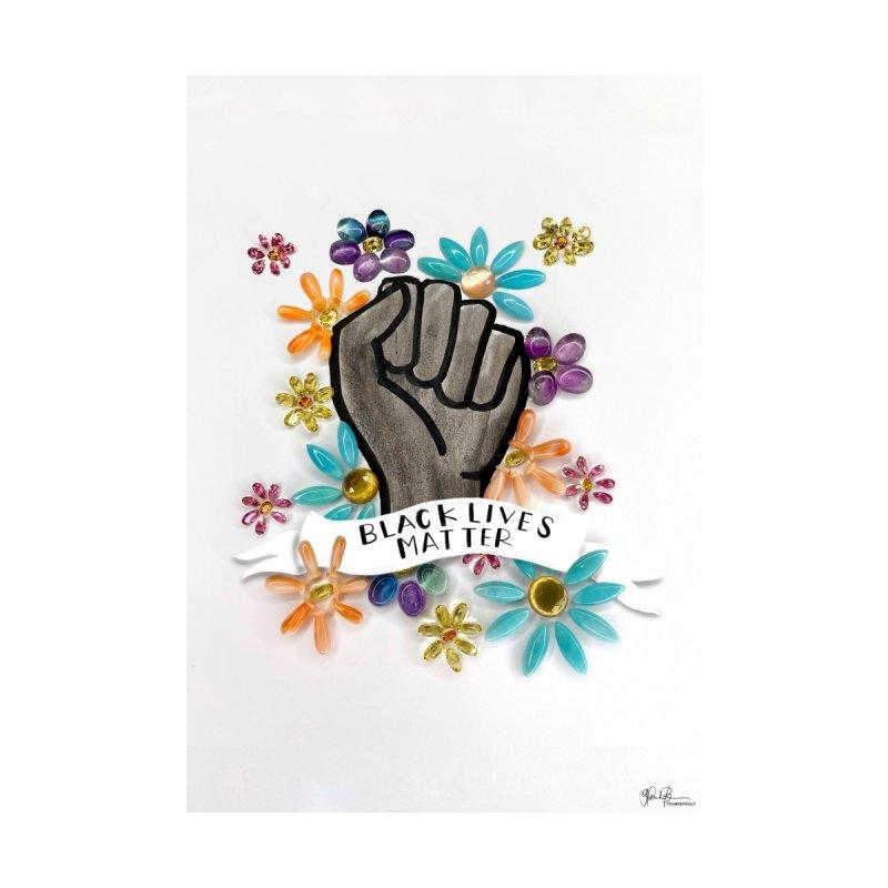 Diamondoodles Classic: Black Lives Matter Home Fine Art Print by Art by Diamondoodles