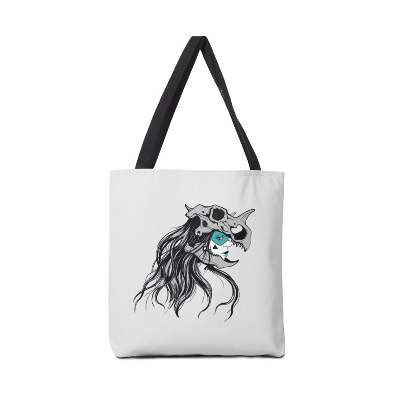 Skull Girl Accessories Tote Bag Bag by Diana's Artist Shop