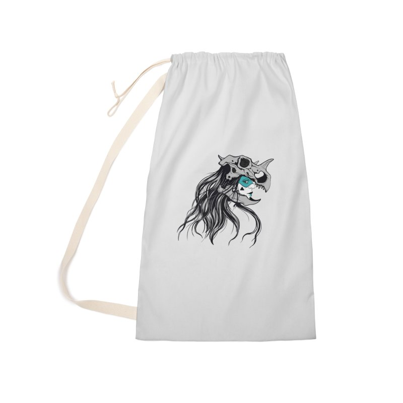 Skull Girl Accessories Laundry Bag Bag by Diana's Artist Shop