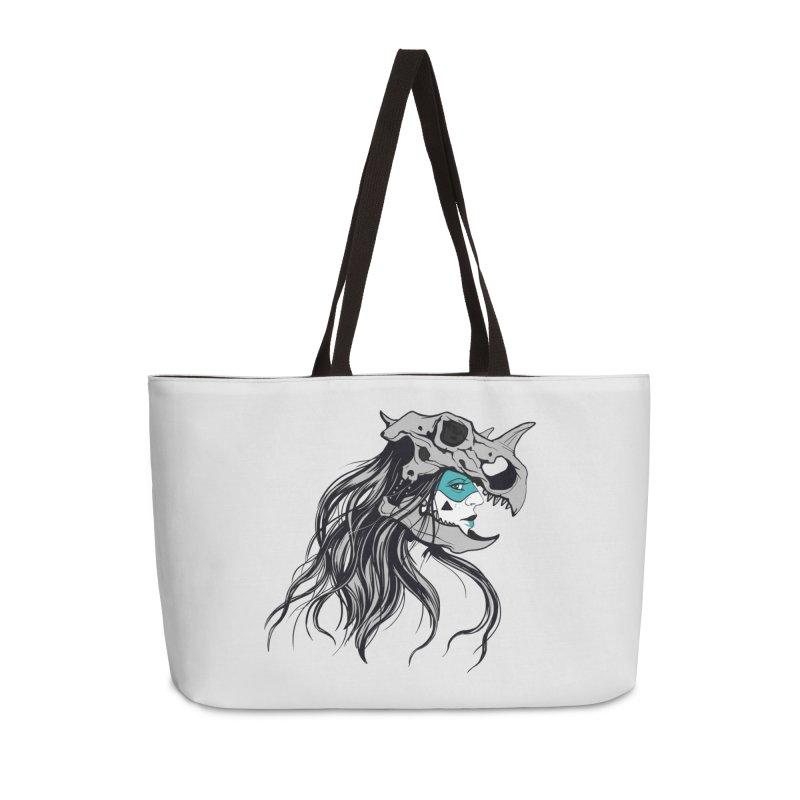 Skull Girl Accessories Weekender Bag Bag by Diana's Artist Shop