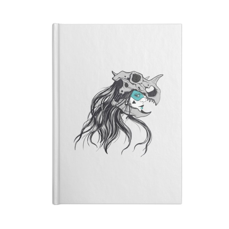 Skull Girl Accessories Lined Journal Notebook by Diana's Artist Shop