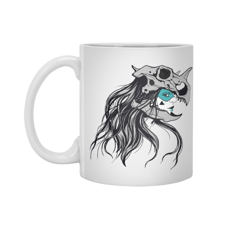 Skull Girl Accessories Mug by Diana's Artist Shop