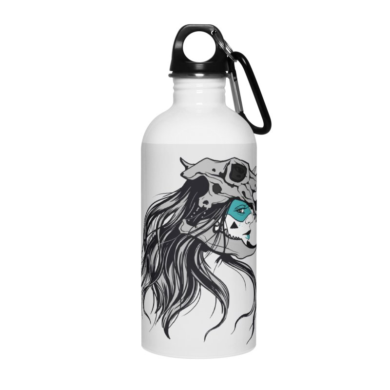 Skull Girl Accessories Water Bottle by Diana's Artist Shop