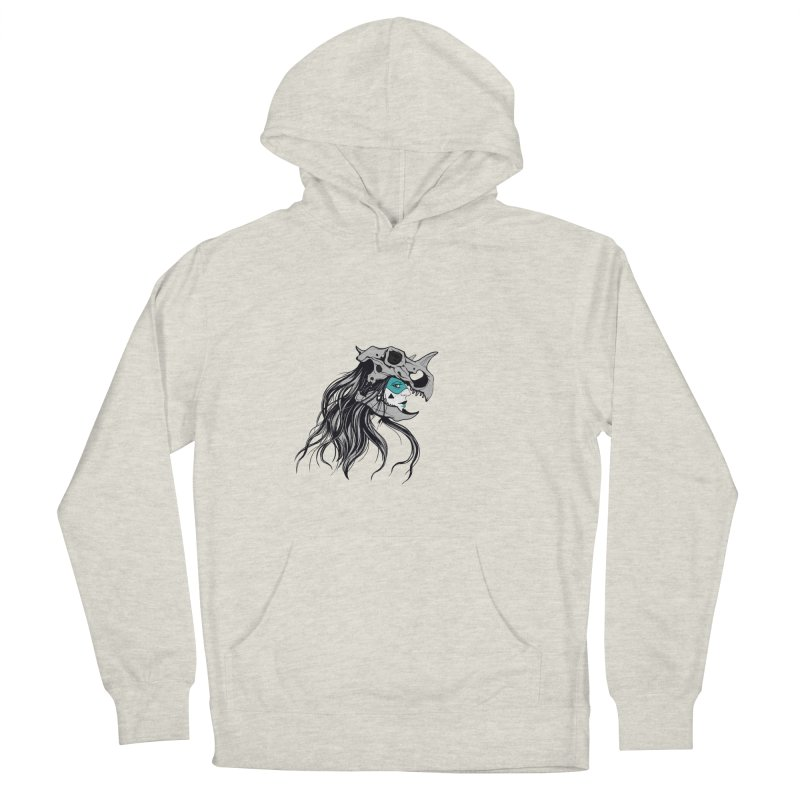 Skull Girl Men's French Terry Pullover Hoody by Diana's Artist Shop