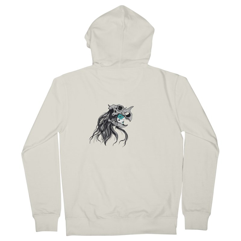 Skull Girl Men's French Terry Zip-Up Hoody by Diana's Artist Shop