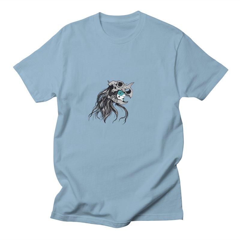 Skull Girl Men's T-shirt by Diana's Artist Shop