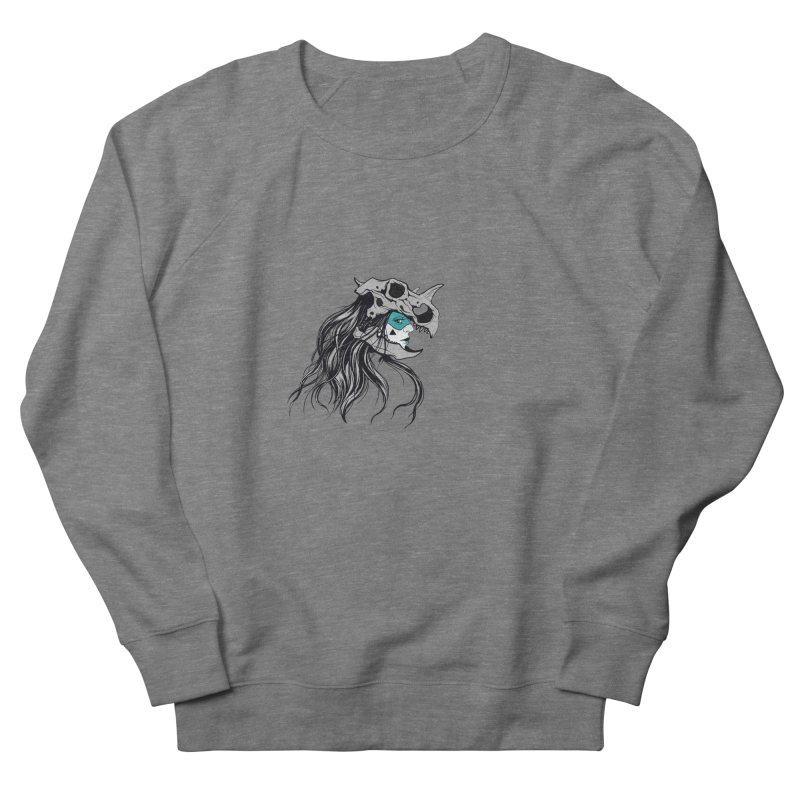 Skull Girl Men's French Terry Sweatshirt by Diana's Artist Shop