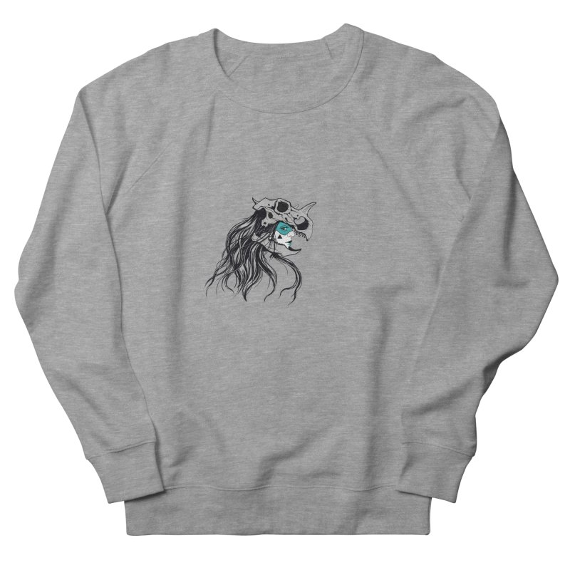 Skull Girl Men's French Terry Sweatshirt by Diana's Artist Shop