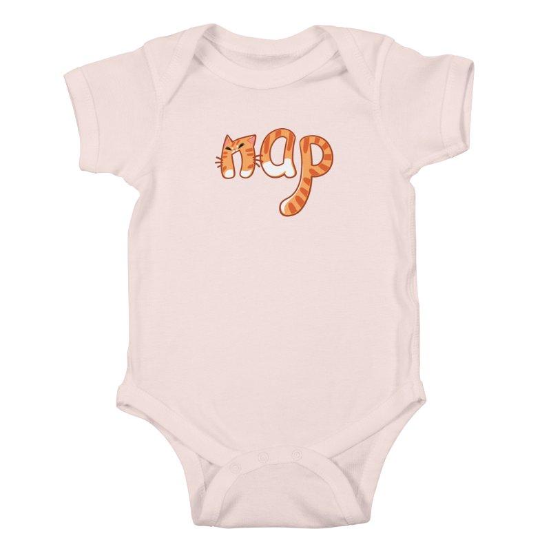 Cat Nap Kids Baby Bodysuit by dianasprinkle's Artist Shop