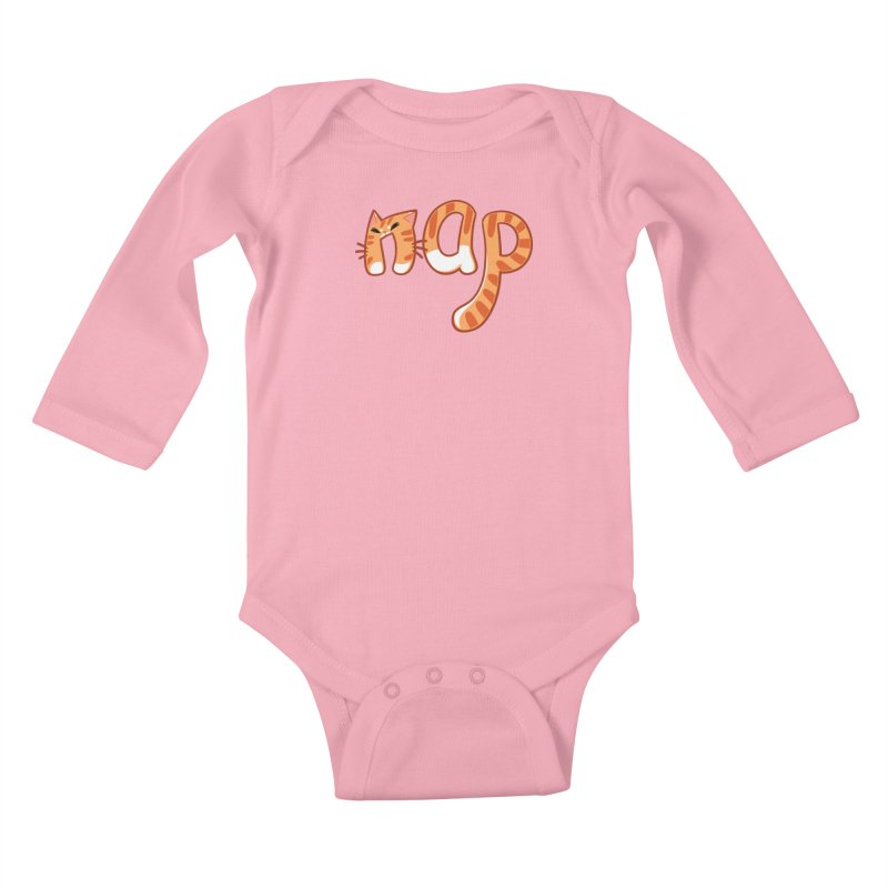 Cat Nap Kids Baby Longsleeve Bodysuit by dianasprinkle's Artist Shop