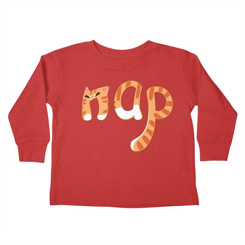 Cat Nap Kids Toddler Longsleeve T-Shirt by dianasprinkle's Artist Shop