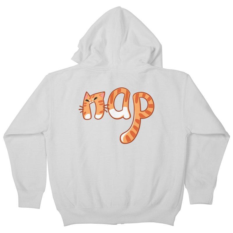 Cat Nap Kids Zip-Up Hoody by dianasprinkle's Artist Shop