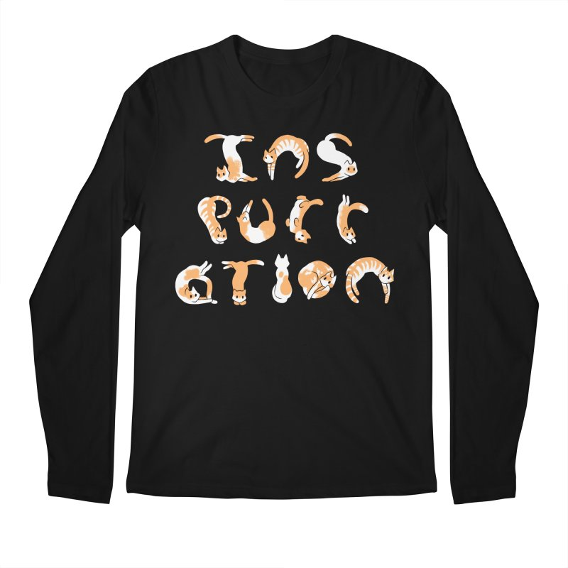 InsPURRation Men's Longsleeve T-Shirt by dianasprinkle's Artist Shop
