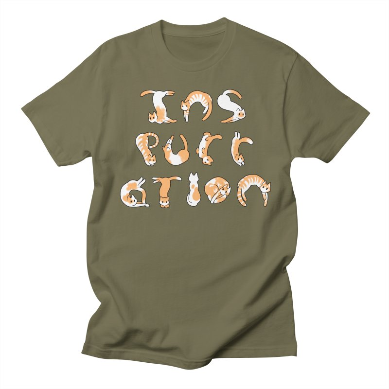InsPURRation Men's T-shirt by dianasprinkle's Artist Shop