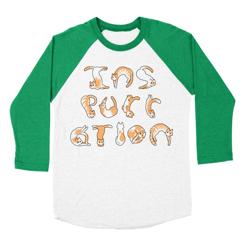 InsPURRation Men's Baseball Triblend T-Shirt by dianasprinkle's Artist Shop
