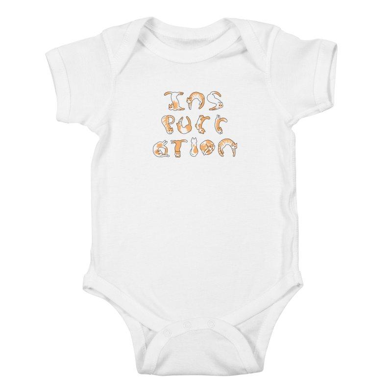 InsPURRation Kids Baby Bodysuit by dianasprinkle's Artist Shop
