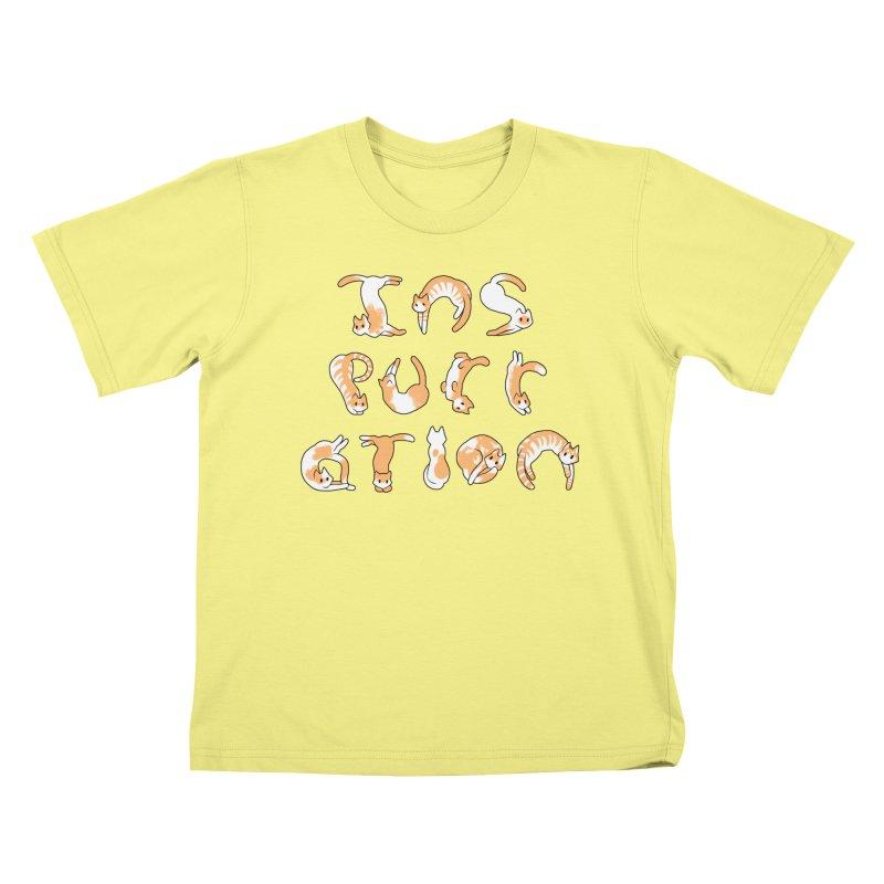 InsPURRation Kids T-shirt by dianasprinkle's Artist Shop