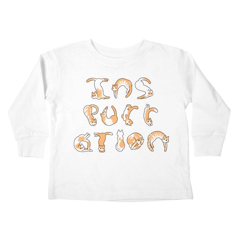 InsPURRation Kids Toddler Longsleeve T-Shirt by dianasprinkle's Artist Shop