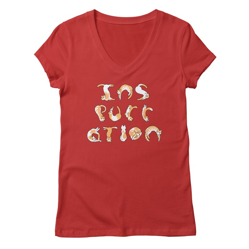 InsPURRation Women's V-Neck by dianasprinkle's Artist Shop