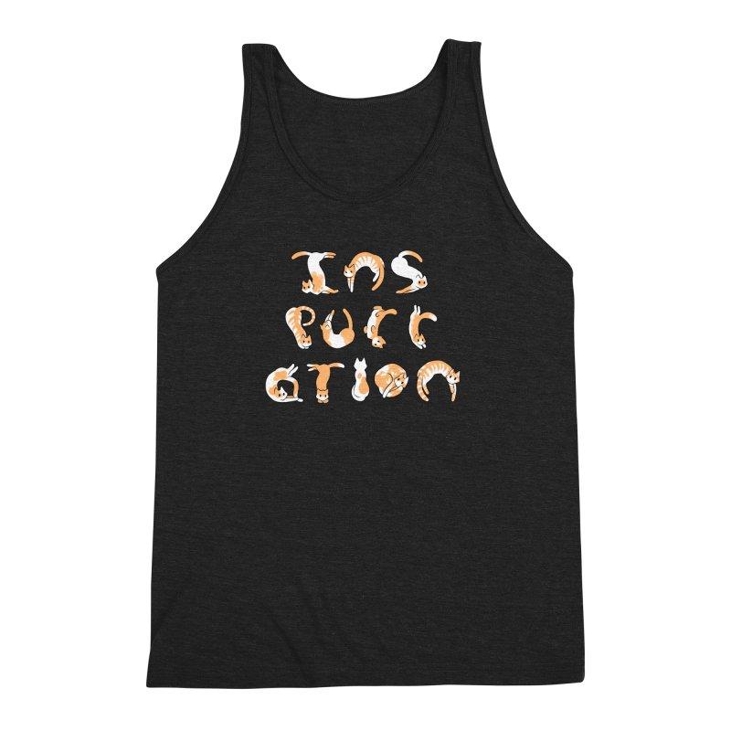 InsPURRation Men's Triblend Tank by dianasprinkle's Artist Shop