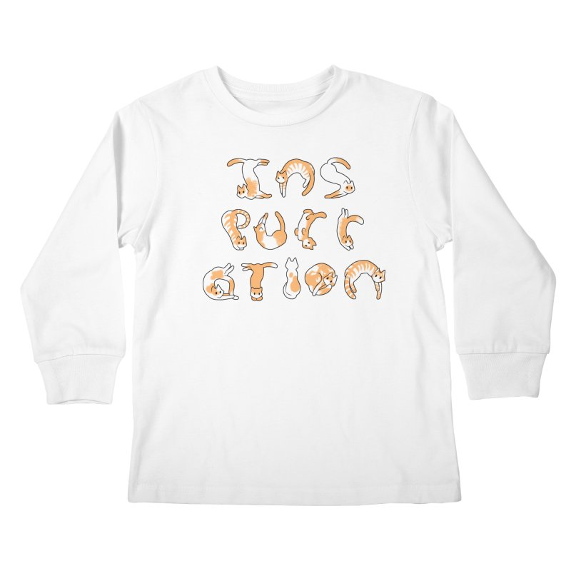InsPURRation Kids Longsleeve T-Shirt by dianasprinkle's Artist Shop