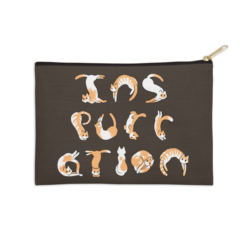 InsPURRation Accessories Zip Pouch by dianasprinkle's Artist Shop