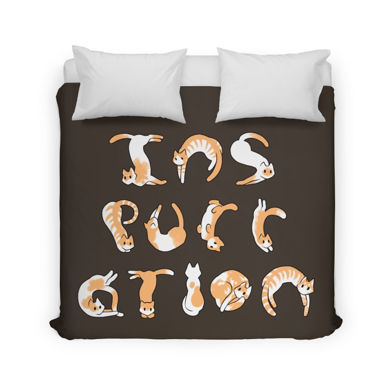 InsPURRation Home Duvet by dianasprinkle's Artist Shop