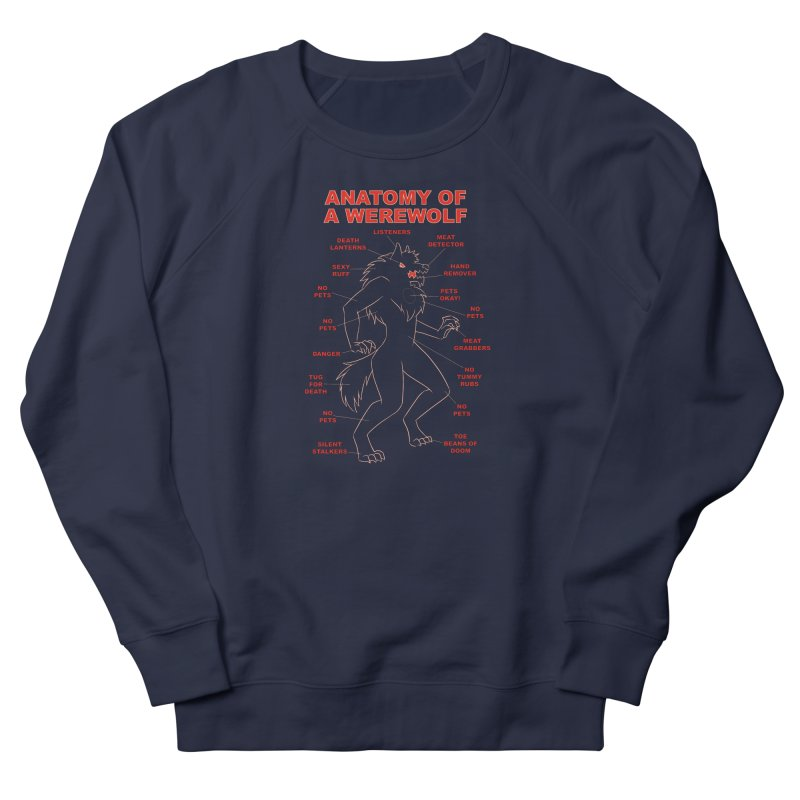 Anatomy of a Werewolf Men's Sweatshirt by dianasprinkle's Artist Shop