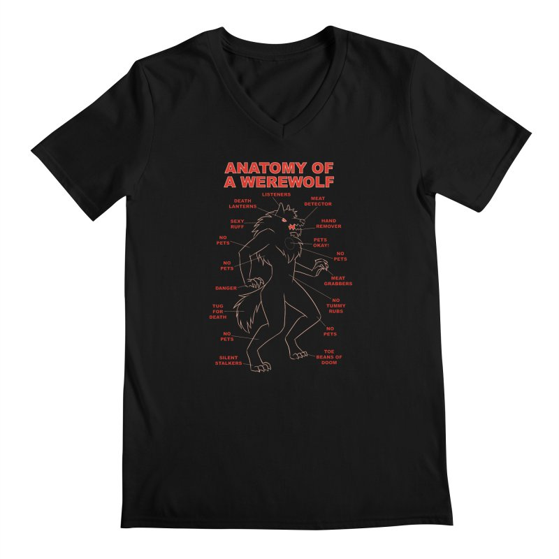 Anatomy of a Werewolf Men's V-Neck by dianasprinkle's Artist Shop