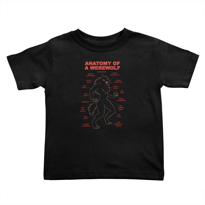 Anatomy of a Werewolf Kids Toddler T-Shirt by dianasprinkle's Artist Shop