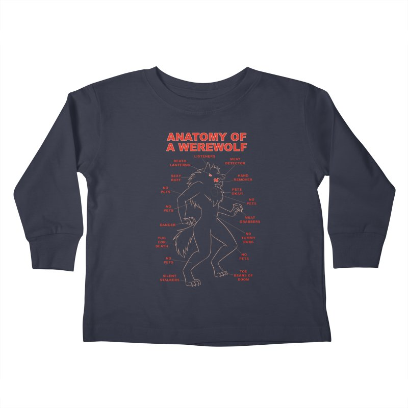 Anatomy of a Werewolf Kids Toddler Longsleeve T-Shirt by dianasprinkle's Artist Shop