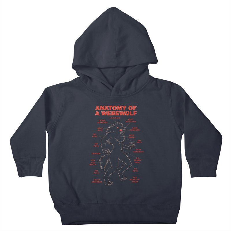 Anatomy of a Werewolf Kids Toddler Pullover Hoody by dianasprinkle's Artist Shop