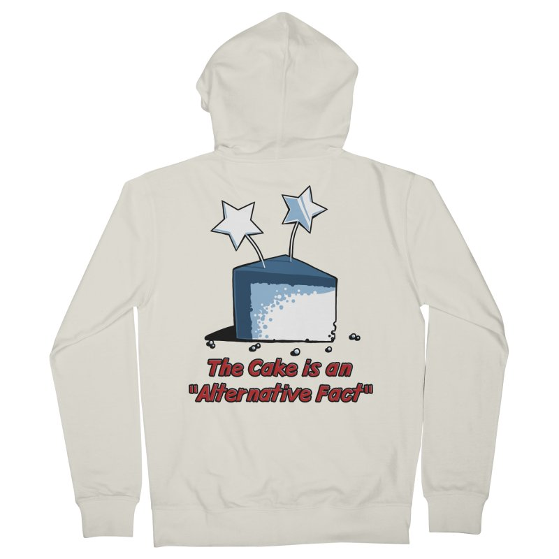The Cake is an Alternative Fact Women's Zip-Up Hoody by dianasprinkle's Artist Shop