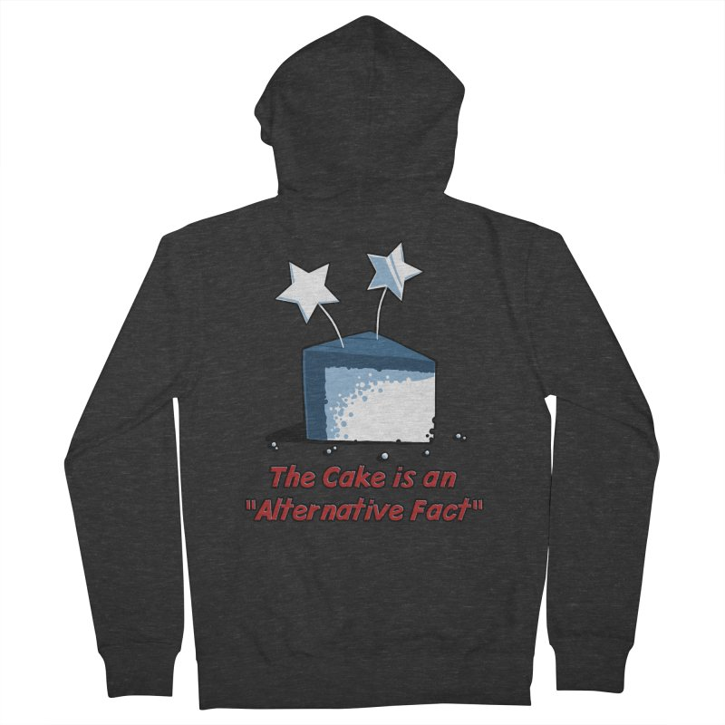 The Cake is an Alternative Fact Men's Zip-Up Hoody by dianasprinkle's Artist Shop