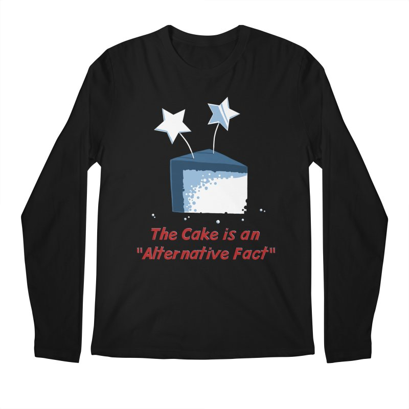 The Cake is an Alternative Fact Men's Longsleeve T-Shirt by dianasprinkle's Artist Shop
