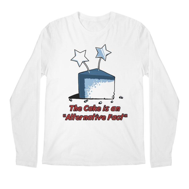 The Cake is an Alternative Fact Men's Longsleeve T-Shirt by dianasprinkle's Artist Shop