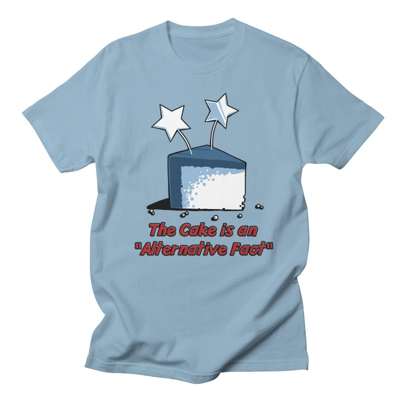 The Cake is an Alternative Fact Men's T-shirt by dianasprinkle's Artist Shop