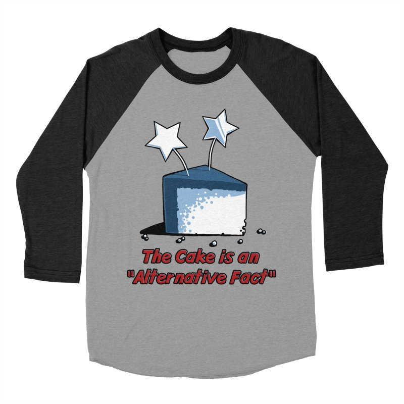 The Cake is an Alternative Fact Men's Baseball Triblend T-Shirt by dianasprinkle's Artist Shop