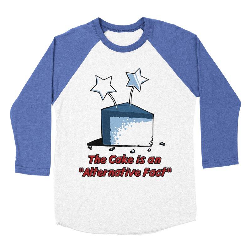 The Cake is an Alternative Fact Men's Baseball Triblend T-Shirt by dianasprinkle's Artist Shop