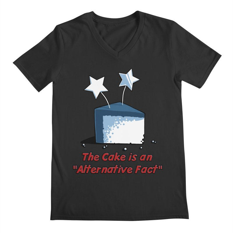 The Cake is an Alternative Fact Men's V-Neck by dianasprinkle's Artist Shop