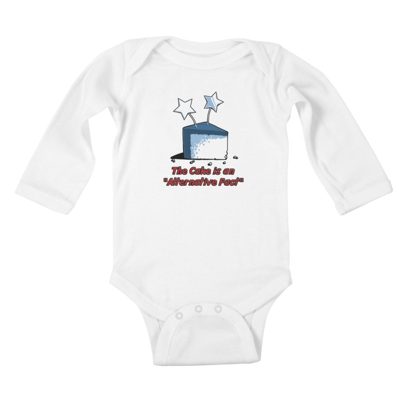 The Cake is an Alternative Fact Kids Baby Longsleeve Bodysuit by dianasprinkle's Artist Shop