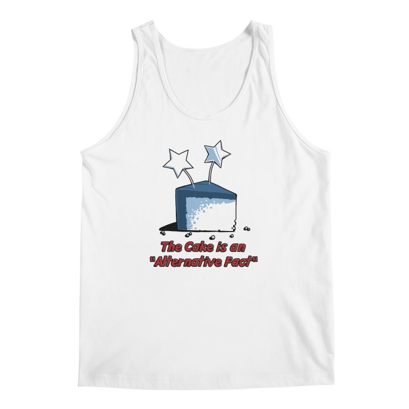 The Cake is an Alternative Fact Men's Tank by dianasprinkle's Artist Shop