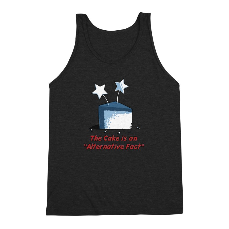 The Cake is an Alternative Fact Men's Triblend Tank by dianasprinkle's Artist Shop
