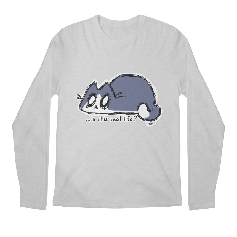 Under PURRRessure Men's Longsleeve T-Shirt by dianasprinkle's Artist Shop