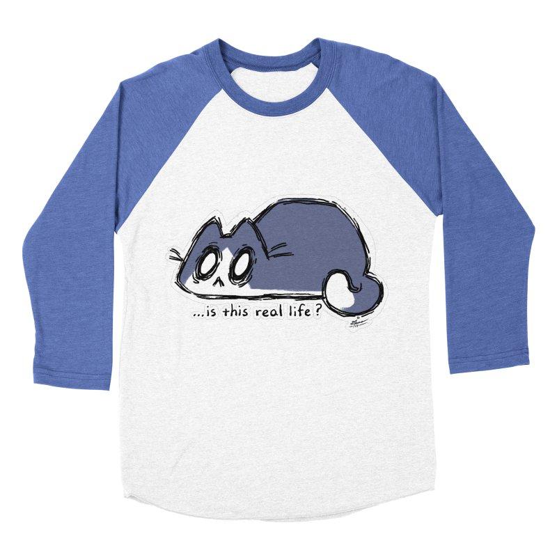 Under PURRRessure Men's Baseball Triblend T-Shirt by dianasprinkle's Artist Shop