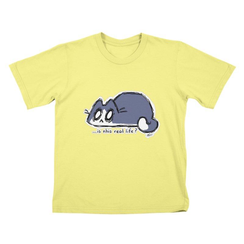 Under PURRRessure Kids T-shirt by dianasprinkle's Artist Shop
