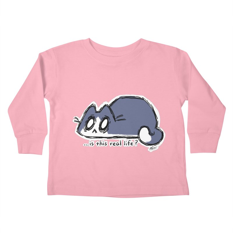Under PURRRessure Kids Toddler Longsleeve T-Shirt by dianasprinkle's Artist Shop