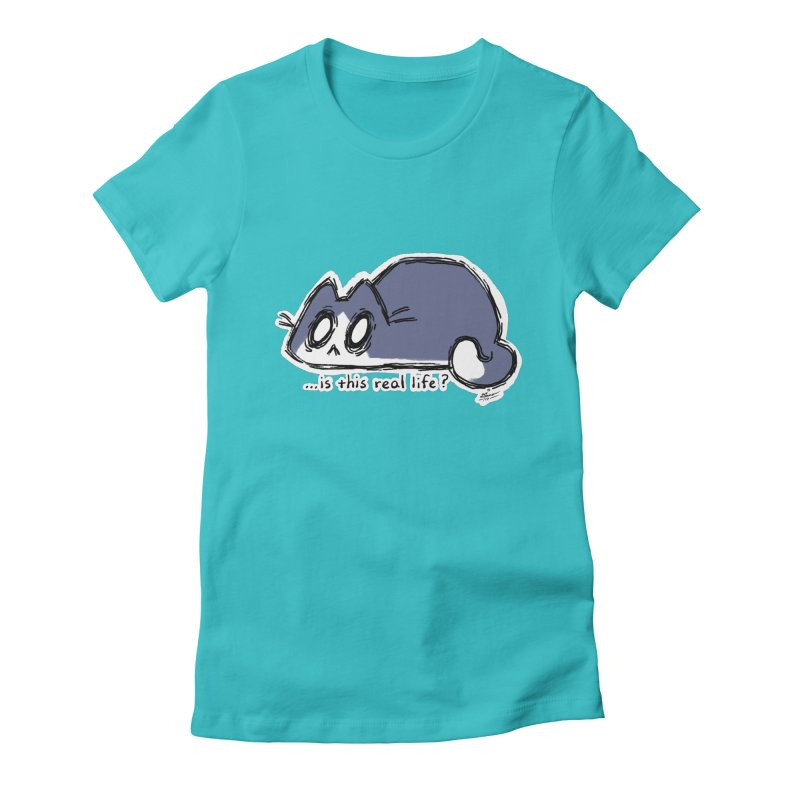 Under PURRRessure Women's Fitted T-Shirt by dianasprinkle's Artist Shop