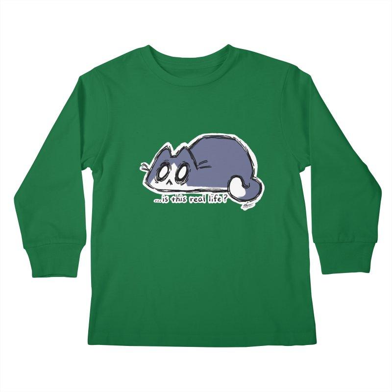 Under PURRRessure Kids Longsleeve T-Shirt by dianasprinkle's Artist Shop