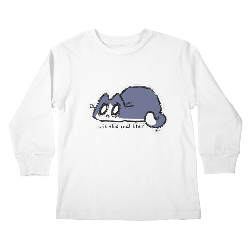 Under PURRRessure Kids Longsleeve T-Shirt by dianasprinkle's Artist Shop